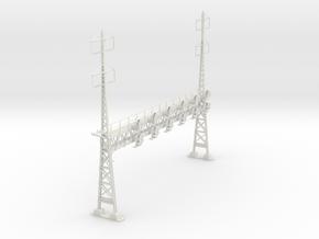 HO Scale PRR W-signal LATTICE 6 Track  W 2-2 PHASE in White Natural Versatile Plastic