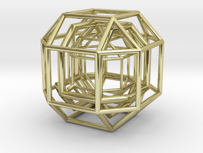 The diamond that rotates (big) in 18k Gold Plated Brass