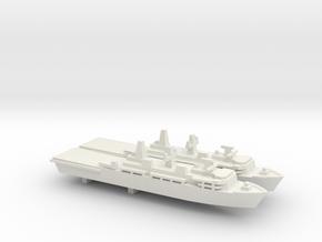 Albion-class LPD x 2, 1/2400 in White Natural Versatile Plastic