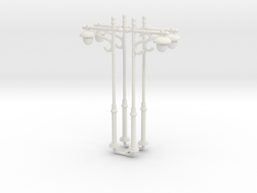 N/OO Scale Lamp x4 in White Natural Versatile Plastic: 1:160 - N