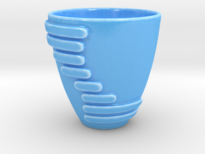 Modern Cup in Gloss Blue Porcelain