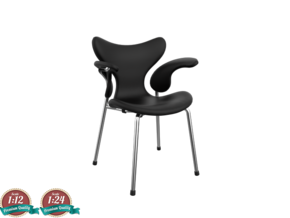 Miniature Lily Chair - Arne Jacobsen in White Natural Versatile Plastic: 1:24
