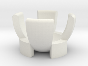 Egg Cup 3D Model Design in White Natural Versatile Plastic