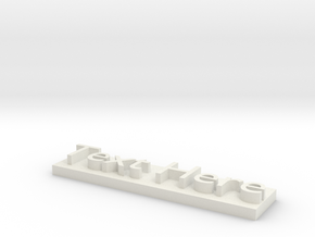 Custom Text Model in White Natural Versatile Plastic