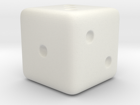 Dice 1.6cm in White Strong & Flexible