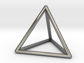 Tetrahedron Pendant in Polished Silver