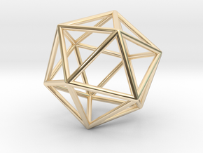 Icosahedron Pendant in 14K Yellow Gold