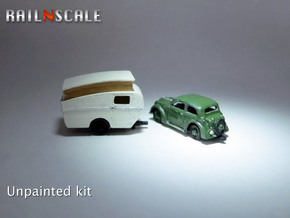 Opel Olympia + Dethleffs Tourist (N 1:160) in Smooth Fine Detail Plastic
