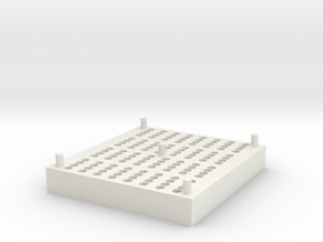 RotoGene® Strip Tube Storage Block in White Natural Versatile Plastic