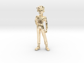 1/24 Racing Driver Kazami in 14k Gold Plated Brass