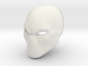 Basic hero/villan/anti-hero Helmet in White Natural Versatile Plastic