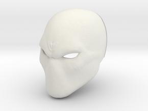 Basic hero/villan/anti-hero Helmet in White Natural Versatile Plastic