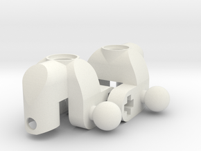 Mini MacPherson strut hubs in White Strong & Flexible