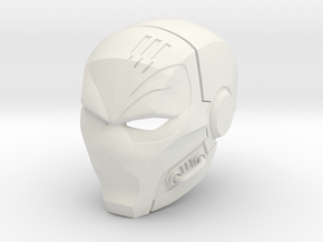 Deathstroke- The Terminator helmet in White Strong & Flexible
