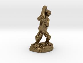 Kobold Archer Crouching  in Natural Bronze