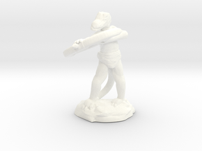 Kobold Archer With Shortbow Shooting High in White Strong & Flexible Polished