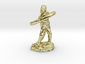 Kobold Archer With Shortbow Shooting High in 18k Gold