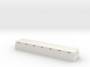 Braille Pill Box in White Strong & Flexible