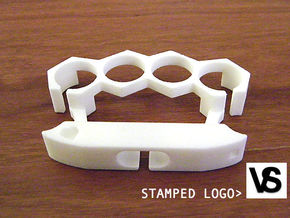 Viper Strike © - Phone Stand and Headphone Wrap in White Processed Versatile Plastic