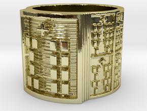 OYEKUNPITI Ring Size 11-13 in 18k Gold Plated Brass: 12 / 66.5
