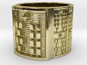 OYEKUNBEDURA Ring Size 11-13 in 18k Gold Plated: 12 / 66.5