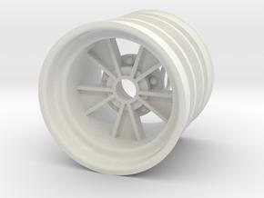Front SRB BRM retro style - wide version in White Natural Versatile Plastic
