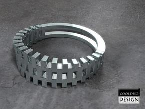 Ring - Grid1 in Stainless Steel