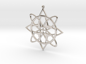 Snowflake Pendant in Rhodium Plated Brass