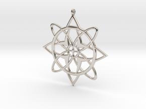 Snowflake Pendant in Rhodium Plated Brass