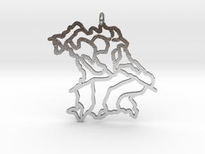 Bavaria Pendant in Natural Silver