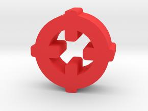 Game Piece, Target Symbol in Red Processed Versatile Plastic