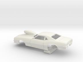 1 8 Pro Mod 68 Camaro With Scoop in White Natural Versatile Plastic