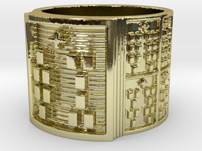 IWORIBODE Ring Size 13.5 in 18k Gold Plated Brass