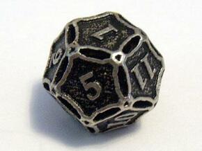 Premier Die12 in Polished Bronzed Silver Steel