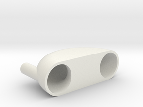 Pneumatic Vibrator in White Natural Versatile Plastic