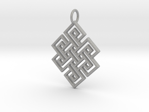 Endless Knot Religious Pendant Charm in Aluminum
