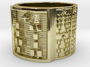 IWORIROTE Ring Size 14 in 18k Gold Plated Brass