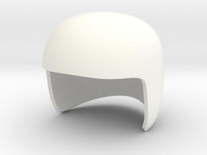 MK2 Helmet V15 in White Processed Versatile Plastic