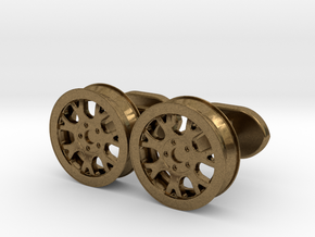 rims cufflinks in Natural Bronze