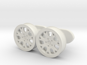 rims cufflinks in White Natural Versatile Plastic