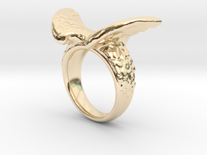 Winged Ring  in 14K Yellow Gold