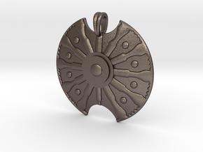 Troy Shield Pendant in Stainless Steel