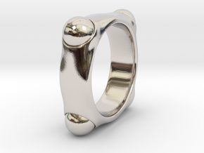 Quoc - Ring in Rhodium Plated Brass: 6 / 51.5