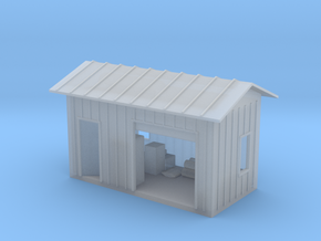 HO Shed With Lighting in Smooth Fine Detail Plastic