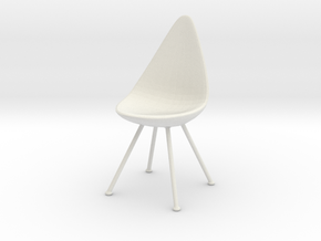 Miniature Drop Chair - Arne Jacobsen in White Natural Versatile Plastic