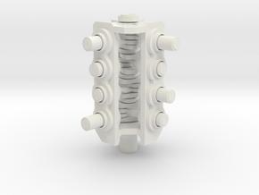 V8 Mini-engine in White Strong & Flexible