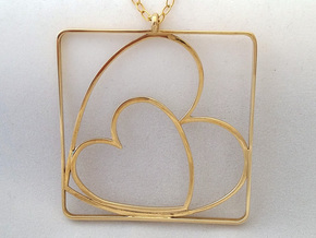 TOGETHER PENDANT in Polished Brass