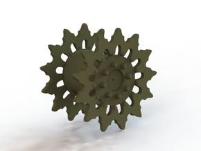 Early M3 Lee/Grant Medium tank sprocket  in Frosted Ultra Detail