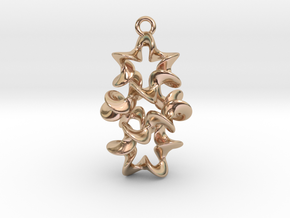 Twist And Twist Again Earring in 14k Rose Gold Plated Brass