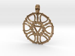 SATURN DIAMOND in Natural Brass